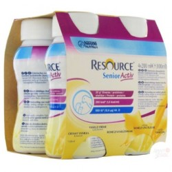 Nestlé Resource Senior Activ - Pack de 4 x 200 ml - Vanille onctueuse