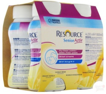 Nestlé Resource Senior Activ - Pack de 4 x 200 ml - Vanille onctueuse| SenUp.com
