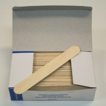 Boîte de 100 abaisse-langue en bois| SenUp.com
