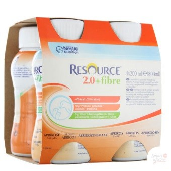 Nestlé Resource® 2.0 + Fibre - Pack de 4 x 200 ml - Abricot| SenUp.com