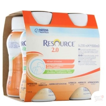 Nestlé Resource® 2.0 sans fibres - Pack de 4 x 200 ml - Abricot| SenUp.com