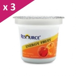 Nestlé Resource® ENERGY FRUIT - 3 x 125 g - Pomme & pêche