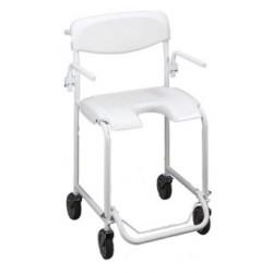 Chaise roulante de douche Invacare® Alizé - En acier haute qualité