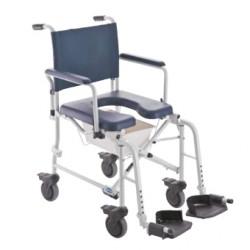 Chaise de douche pliante en aluminium Invacare® Lima - 4 roues freinées