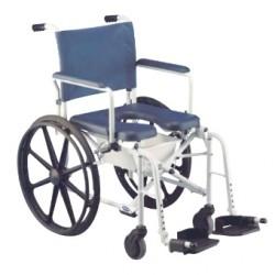 Chaise de douche pliante en aluminium Invacare® Lima - 2 grandes roues