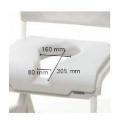 Coussin d'assise avec découpe ergonomique pour INVACARE® Aquatec® OCEAN & OCEAN E-VIP