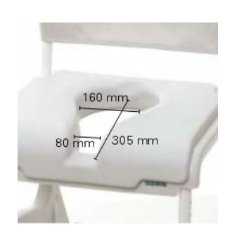 coussin d 39 assise avec d coupe ergonomique ocean ocean xl e vip invacare aquatec disponible. Black Bedroom Furniture Sets. Home Design Ideas