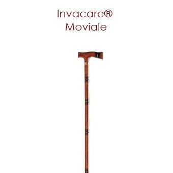 Canne Invacare® MOVIALE - 90 cm - Style bambou - Avec poignée en T