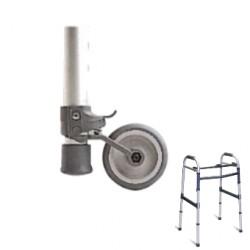Paire de roues arrière avec freinage pour cadres de marche Invacare® Brio & Asteria