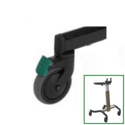 Roue directionnelle (1 pièce) pour déambulateur de rééducation Invacare® Dolomite STEP UP