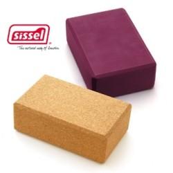 SISSEL® YOGA BLOCK - Bloc de yoga - Bordeaux ou brun
