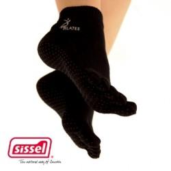 SISSEL® PILATES SOCKS - Chaussettes de Pilates en coton - Noires
