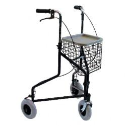Rollator à 3 roues avec panier amovible Tcare