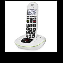 Doro PhoneEasy® 115 - Téléphone sans fil avec grandes touches et répondeur - Blanc