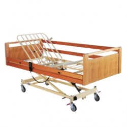 Lit à croisillon avec 3 fonctions électriques Invacare® Scanbed 440 - Freinage centralisé