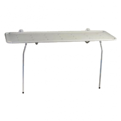 Brancard de douche Invacare® A7728 - Articulé au mur et pieds escamotables
