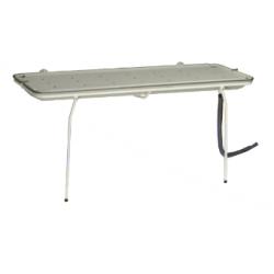 Brancard de douche Invacare® A7729 - Articulé au mur et pieds escamotables + bac collecteur