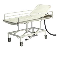 Brancard de douche Invacare® A7723 - Réglage hydraulique de la hauteur + bac collecteur