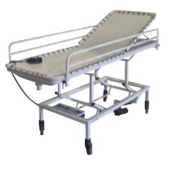 Brancard de douche Invacare® 151093 - Réglage électrique de la hauteur + bac collecteur