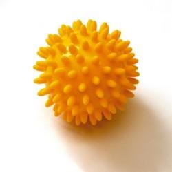 SISSEL® SPIKY BALL - Boules de massage de 8 cm - Jaune (set de 2)