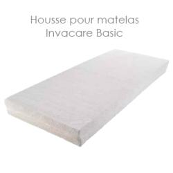 Housse blanche en coton pour le matelas INVACARE® Basic