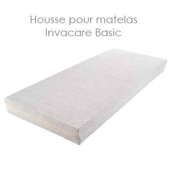 housse blanche en coton pour le matelas invacare basic disponible sur. Black Bedroom Furniture Sets. Home Design Ideas