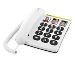 Doro PhoneEasy® 331PH - Téléphone à grandes touches et boutons mémoire