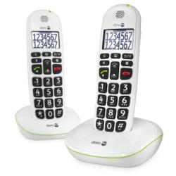 Doro PhoneEasy® 110 Duo - Téléphones sans fil grandes touches - Blanc ou noir