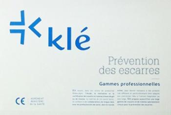 Coussin Gel Klé® Anti-escarres ergonomique - Avec enveloppe 3D - 41 x 41 cm