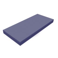 Matelas en mousse non inflammable - Densité de 43 kg/m³ - Anti-bactérien - Bleu