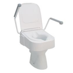 Rehausse-WC avec accoudoirs et couvercle