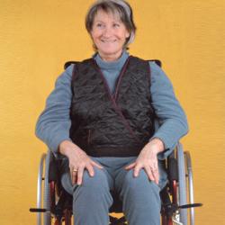 Gilet de maintien croisé pour fauteuil roulant
