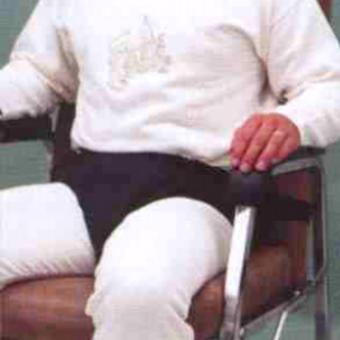 Culotte pelvienne ergonomique avec clip pour fauteuil roulant