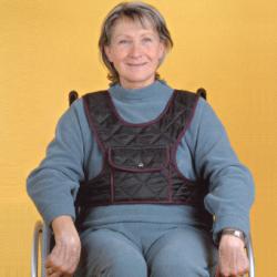 Gilet de maintien avec poche pour fauteuil roulant