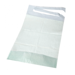 100 bavoirs jetables pour adulte avec poche - 2 plis - 38 x 50 cm