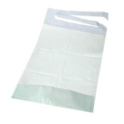 100 bavoirs jetables pour adulte avec poche - 3 plis - 38 x 50 cm