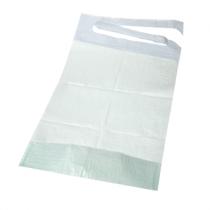100 bavoirs jetables pour adulte avec poche - 3 plis - 38 x 70 cm