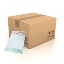 Carton de 600 bavoirs jetables pour adulte avec poche - 3 plis - 38 x 70 cm