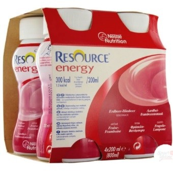 Nestlé Resource® Energy - Pack de 4 x 200 ml - Fraise& Framboise| SenUp.com