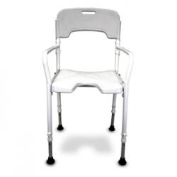 Chaise de douche pliable réglable en hauteur