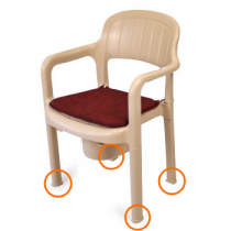 Jeu de 4 rehausses de 5 cm pour la chaise percée en plastique GOHY670