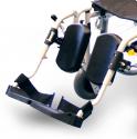 Fauteuil roulant pliant - Avec repose-pieds - Largeur de 38 cm