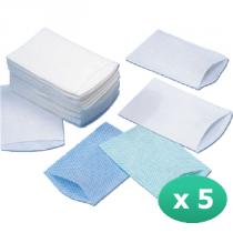 250 gants de toilette présavonnés 75g/m²