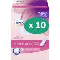 10 paquets de Tena Lady Mini Magic