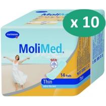 10 paquets de Hartmann MoliMed Thin