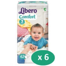6 paquets de Libero Comfort 3