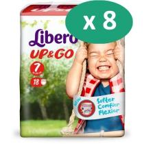 8 paquets de Libero Up&go 7