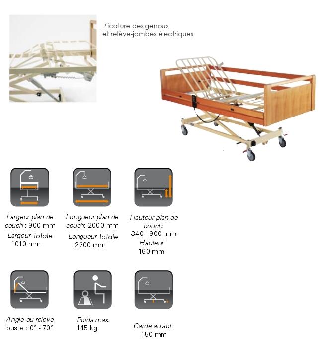 Lit lectrique invacare scanbed 440 fi disponible sur - Meilleurs positions au lit ...