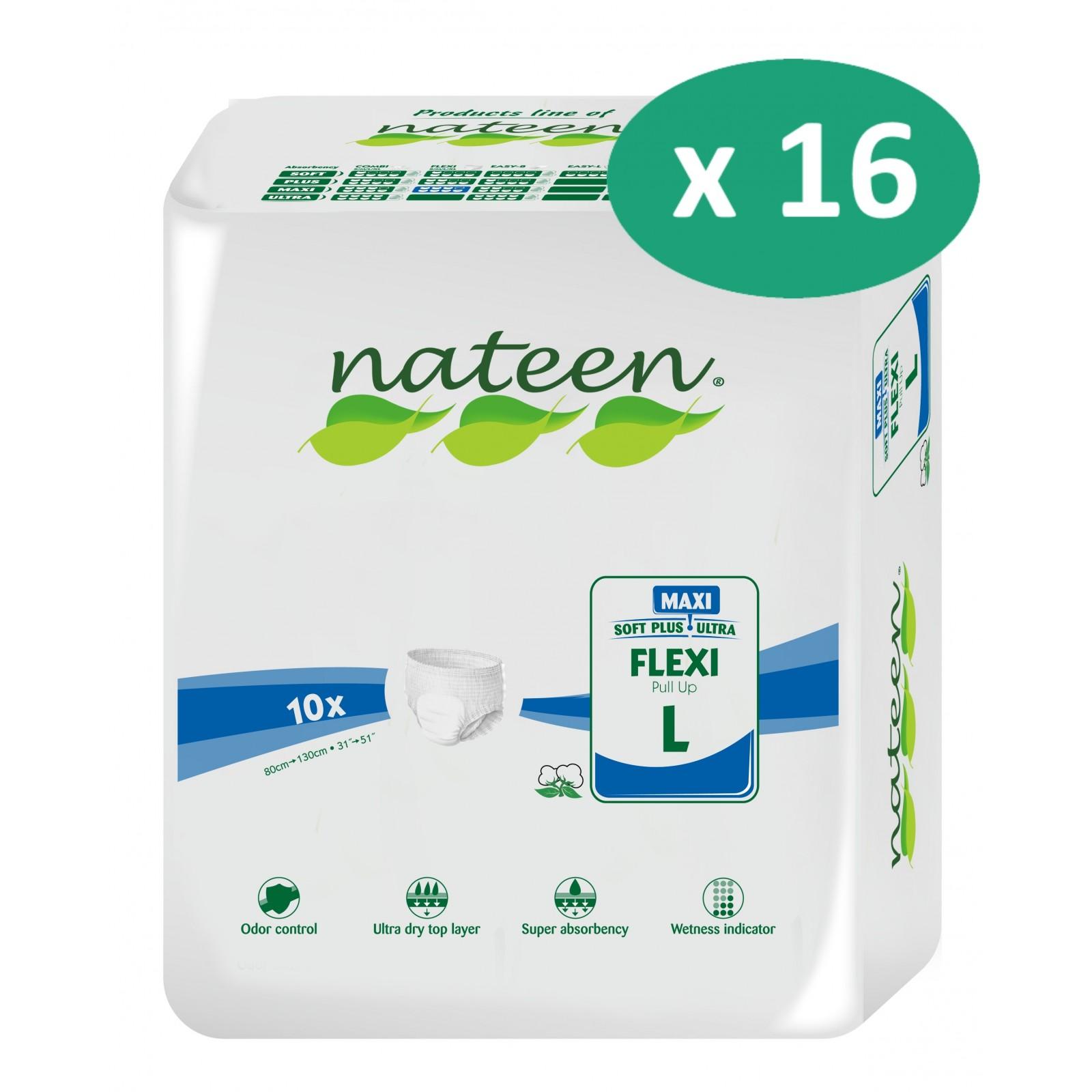 16 paquets de Nateen Flexi Maxi Large| SenUp.com