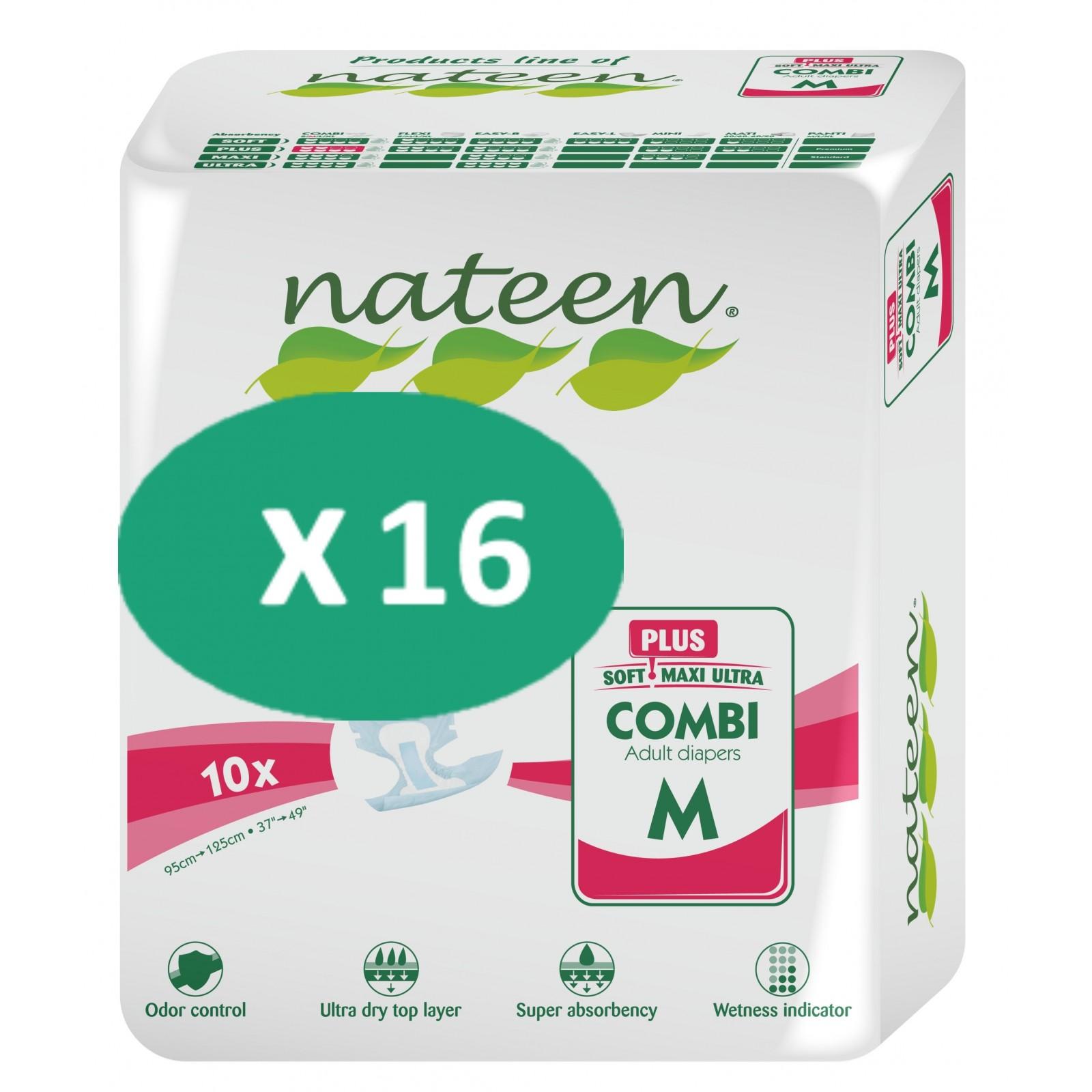 16 paquets de Nateen Combi Plus Medium| SenUp.com